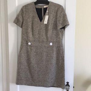 NWT Tory Burch Priscilla dress sz 14 gray wool